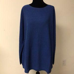 J.jill Sweater Women's 1X Aqua Blue Cotton mix NWT